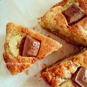 ケーキみたいなチョコバナナマフィン♪