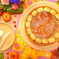 市販の冷凍パイシートを使ってお手軽簡単~!ハロウィンが楽しめちゃう~♪アニスが華やかに香る~☆ ジャックランタンパイをトッピングしたパンプキンパイ -Recipe No.1636-【Japanese】