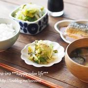 白菜のお漬け物と昼ご飯