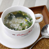 【うちレシピ】ねぎ塩わかめスープにしらす干しをちょい足し♪ / 【参加中】わかめスープちょいたしアレンジレシピコンテスト by レシピブログ