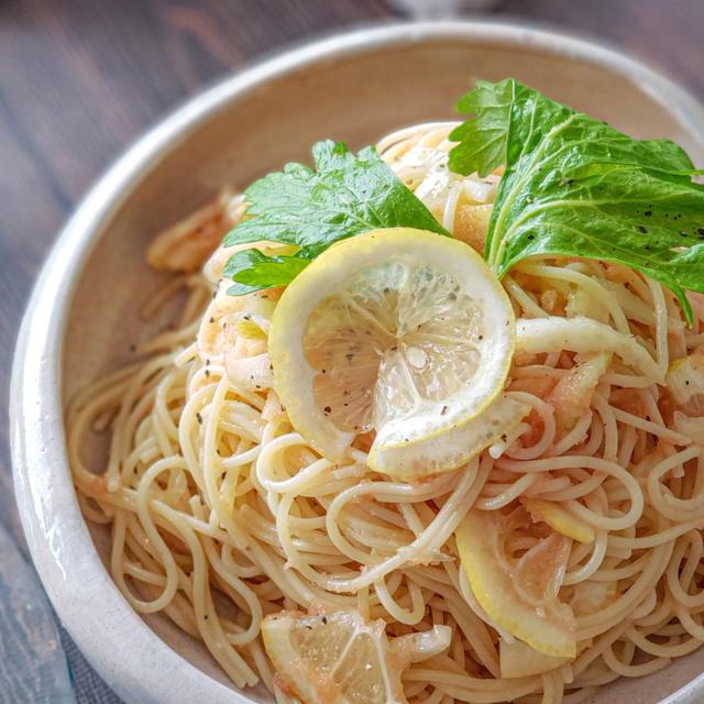 【冷たいパスタレシピ】明太子とセロリの冷製レモンパスタ
