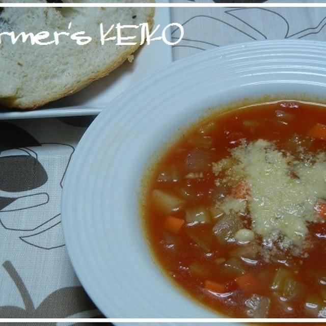 【農家のレシピ】野菜たっぷり☆ミネストローネ  ~我が家の朝食の定番スープです~