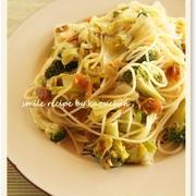 野菜たっぷり梅ペペロンチーノ
