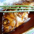 【娘の誕生日料理P-2】メバルの煮付け/焼き肉の菜園スナップエンドウ沿え/おにぎり他です。