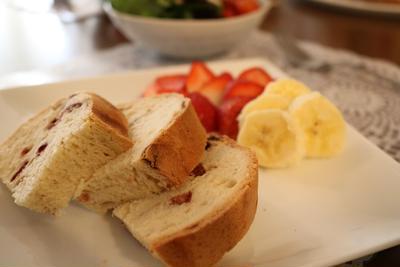 ホームベーカリーで作る☆苺みるくパン