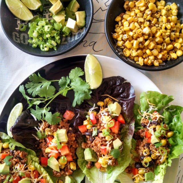 キヌアと牛肉のタコスサラダ IKEAのTICKAR/ティッカル Trader Joe's Cilantro Salad Dressing