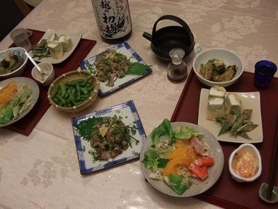 少し地味目の夕食ですが、ゆっくり日本酒で乾杯♪