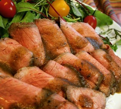 フライパンと鍋で♪簡単!和風ローストビーフ