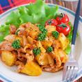 ご飯にもパンにも合わせやすい♪『豚こまと新じゃがのBBQソテー』【#簡単 #主菜 #洋風 #ケチャップ味】