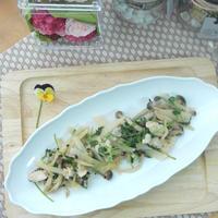 鶏むね肉と野菜のノンオイル 中華ごま炒め♪