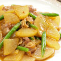 【和食】きょうの大皿?!「うちの豚バラ大根」&花咲く*菜の花のお浸し&蓮根サラダで晩ごはん。