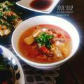 《レシピ》【節約!】材料4つで♡酸辣湯♪ と、本日のわんこ。
