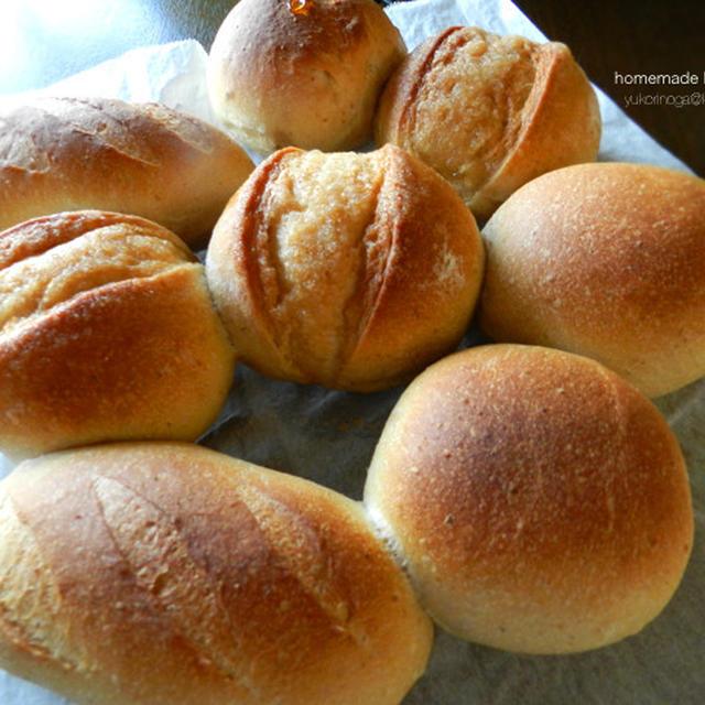 基本材料で、シュガートップ、ホットドッグバンズ、丸パン