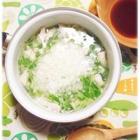 たたき長芋、豆苗、ササミのヘルシー3点鍋