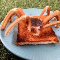 *3D!飛び出す蜘蛛トースト*