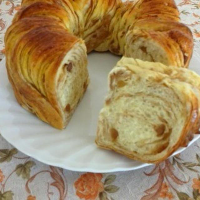 秋色☆栗の折り込みパン