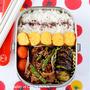 【今日のおべんと】牛肉とタマネギといんげんのピリ辛炒め弁当 by JUNA(神田智美)
