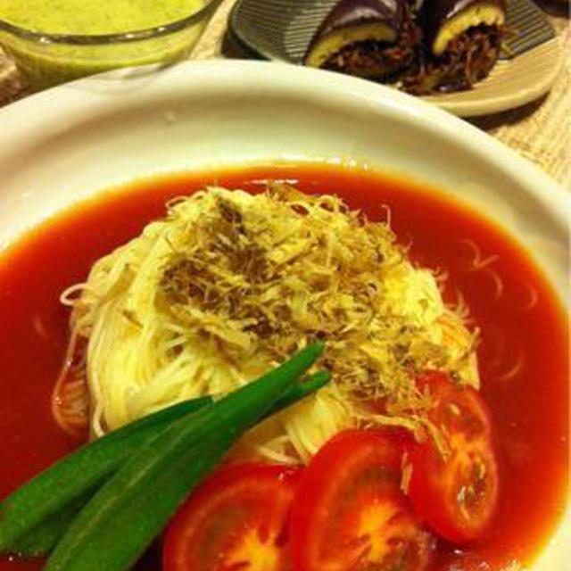 和!冷製トマトスープパスタ