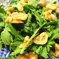 きのうのおつまみ  くるみと春菊サラダ