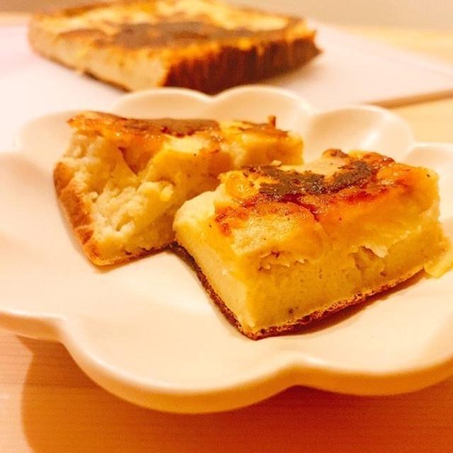 【ヘルシースイーツ】卵焼き器で簡単!とろけるバナナカスタードケーキ