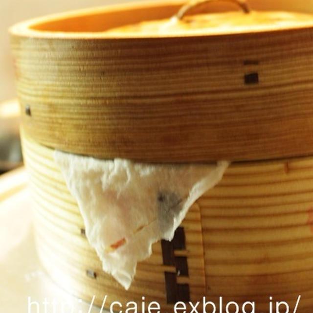 蒸篭蒸し栗おこわ・山芋豆腐の味噌いくらかけ~秋の味覚