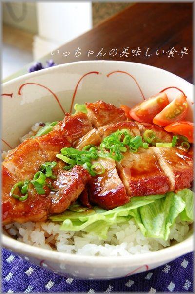さっぱり豚のお酢照り焼きサラダ丼
