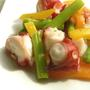 タコとパプリカのカラフルサラダ