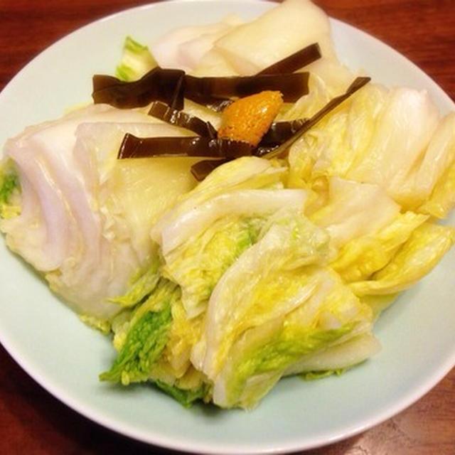 白菜漬け 冬の美味しいお漬物
