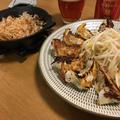 焼き餃子と山芋ステーキで一人宅飲み。