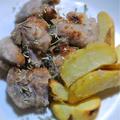 シンプル!ラム肉の唐揚げとポテト