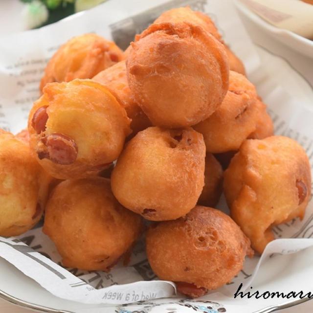 アメリカンドッグ風♡HMで豆腐ドーナツ