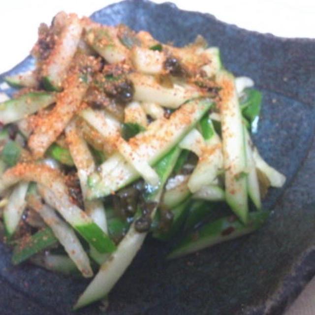 きゅうりと高菜のナムル