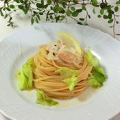 掲載レシピ*レモン醤油の冷製パスタ