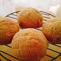 手軽に作ろうよ♪みんな大好きメロンパン♪(カフェオレクッキーのメロンパン)