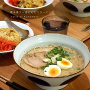 週末ラーメン定食(熊本黒マー油豚骨)