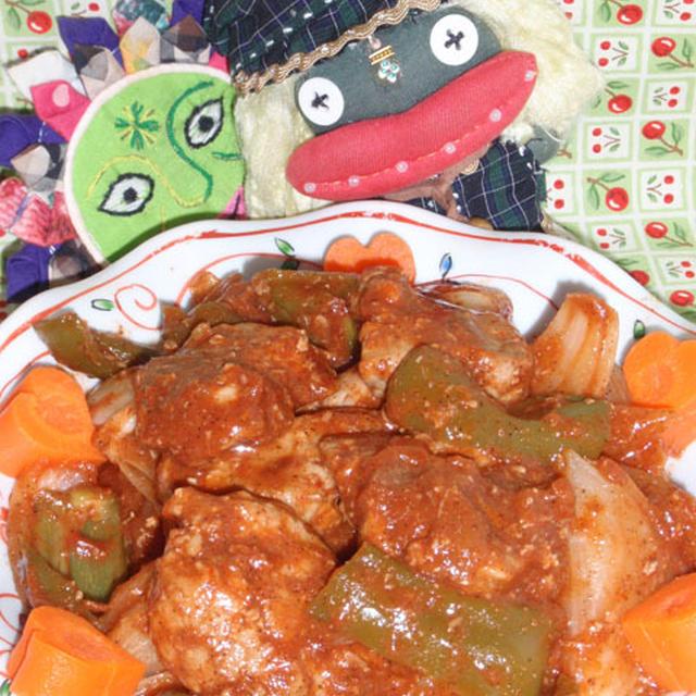 (油で揚げない)カレー酢豚&中華風キュウリのトマト煮(お家カフェ)