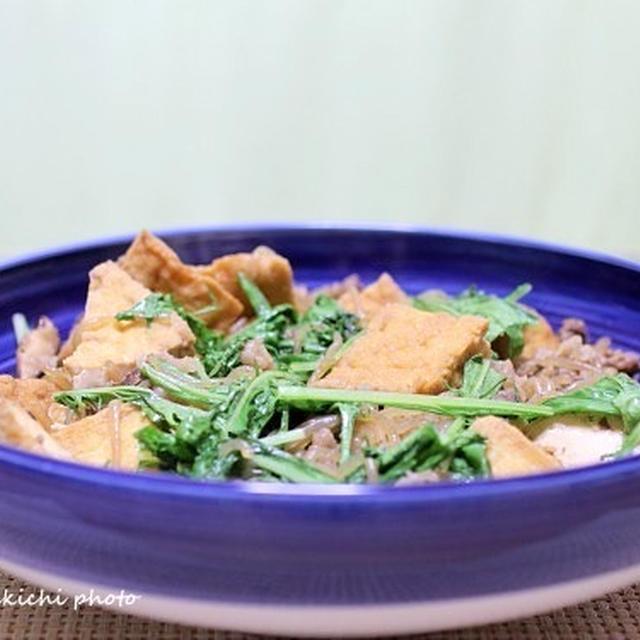 甘辛味はご飯にピッタリ「厚揚げのすき煮」&「炙りマグロのやまかけ」