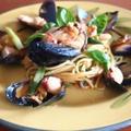 ムール貝とタコのパスタ