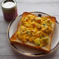 カレー風味卵トースト