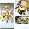 こんにちは酢飯が食べたくて#桜のすし酢 を使ってずぼら五目寿司をカップに入れ、刺... by とまとママさん