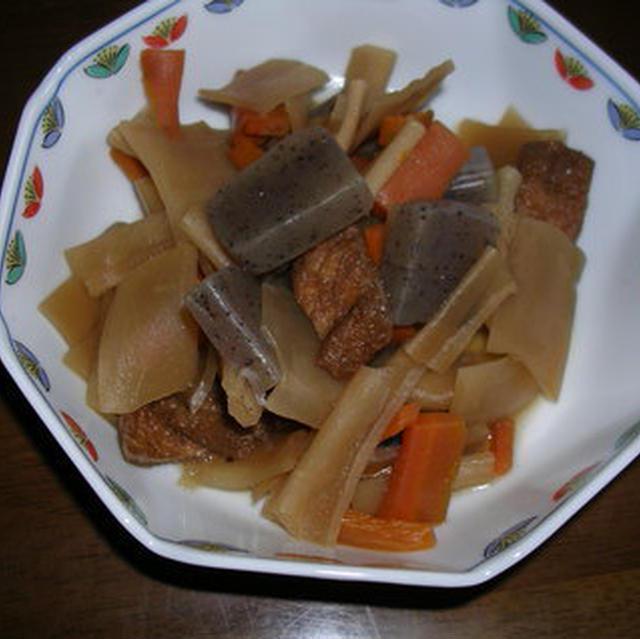 かんぴょうの煮物と混ぜご飯
