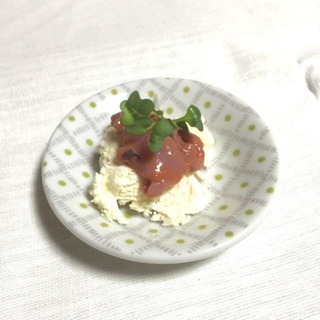 柚子胡椒風味のイカの塩辛クリームチーズ♡
