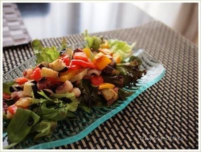 【レシピ】 揚げ蛸とパプリカのサラダ