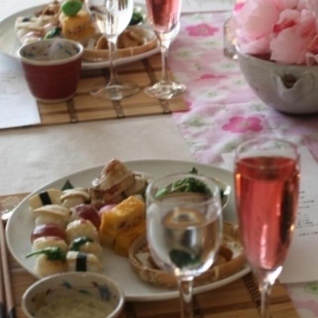 菜の花のお手まり寿司