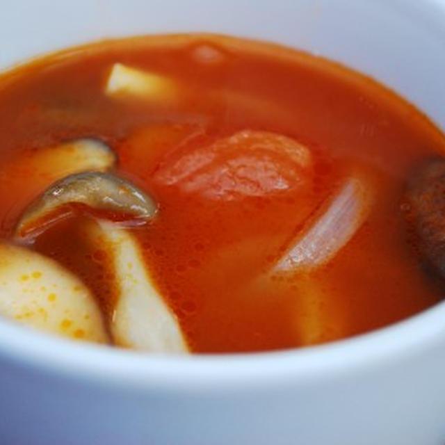 冷製 キノコのトマトスープ