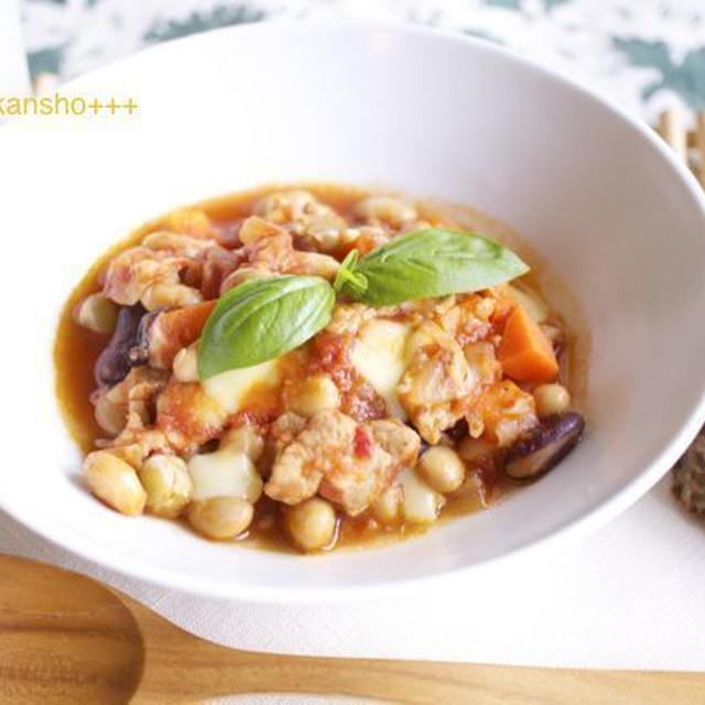 15分の煮込めばOK 豚肉と豆のトマト煮*10月13日豆の日