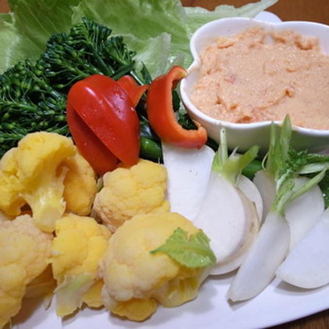 収穫野菜でおもてなし☆オードブルに明太子パテ♪