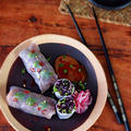 生ハムと野菜のサマーロール(生春巻き)