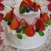 メリークリスマス♪いちごの2段デコレーションケーキ