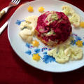 ビーツ&ポテトのマーブルサラダ ~ 華やかなカラーリングにお星様キラリ☆彡
